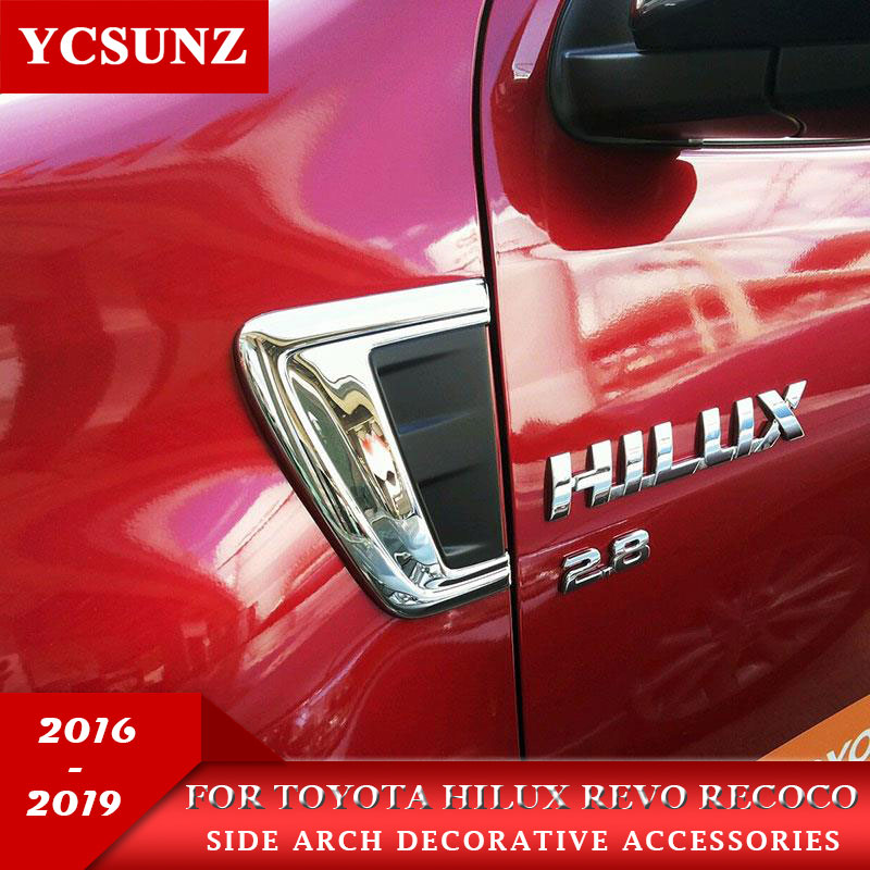 For Toyota Hilux Revo Recoco Accessories Chrome Decorative Trim Hood