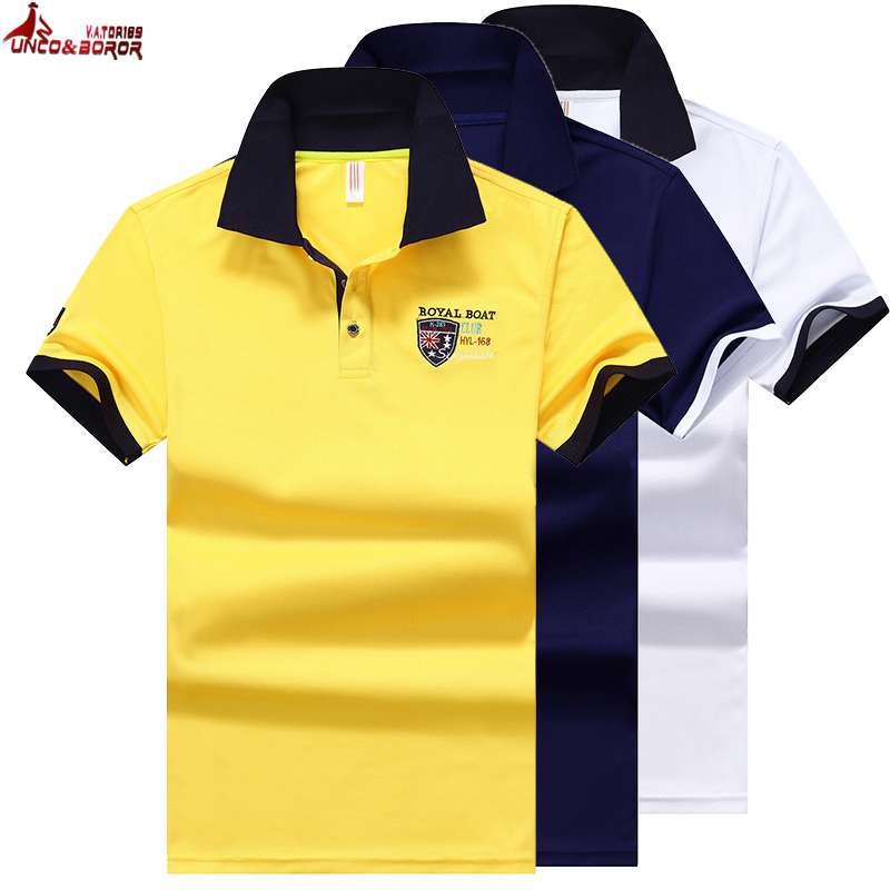 Summer   Polo   Shirt Men Cotton Short Sleeved Jerseys   Polos   Para Hombre Casual Embroidery Business man Tops&Tees   Polo   Shirt