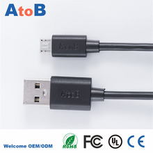 ATOB Micro usb Cable for Samsung galaxy S7 HTC MEIZU SONY Android 1m Fast Charge wire Microusb PC+PBT Mini USB Charger Cable