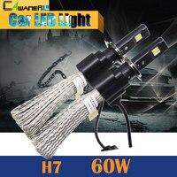1 Pair 60W H7 LED Bulb 6400LM 6500K Cool White Conversion Car Motorcycle Headlight Fog Daytime