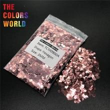 TCM0900A коралловый розовый цвет металлический блеск Шестигранная форма блеск для ногтей Дизайн ногтей украшения макияж гель блеск для тела ручная работа DIY
