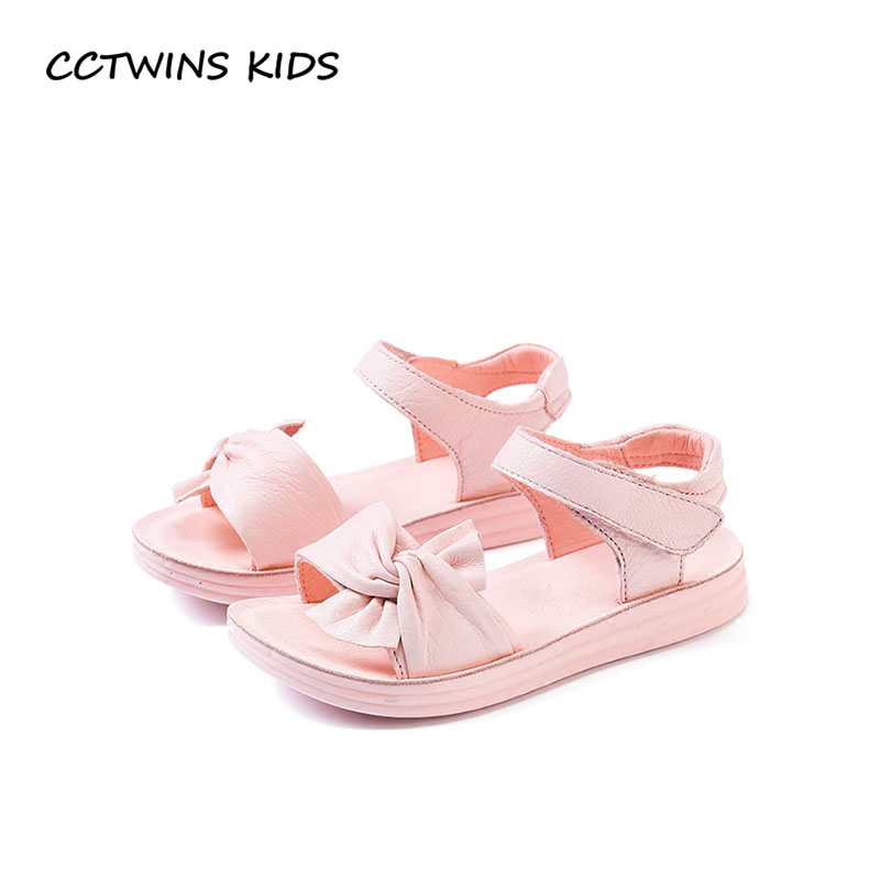 CCTWINS KIDS 2018 Summer Barefoot Butterfly Sandal Baby Girl Children Genuine Leather Flat Toddler Fashion Princess Shoe BP240