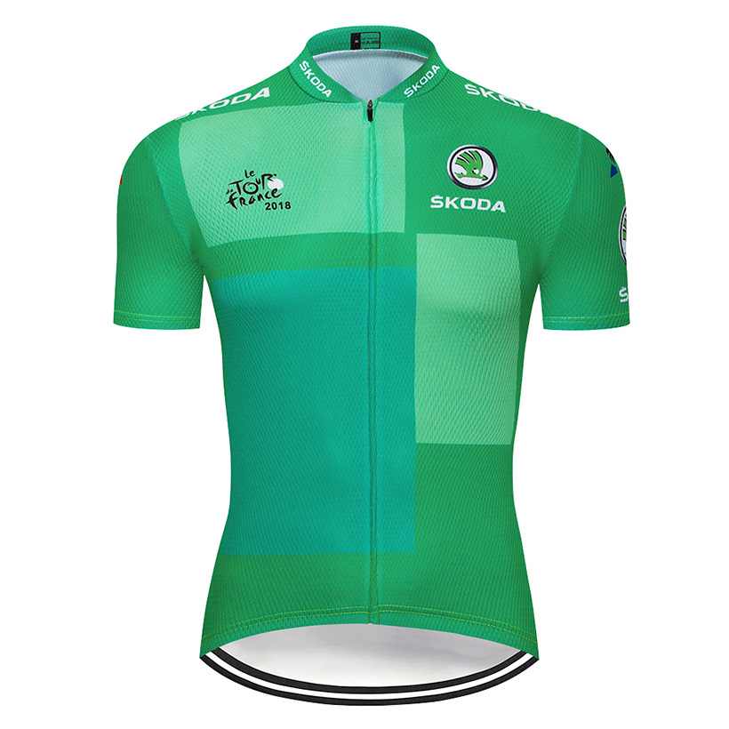 Cycling Jersey Mens 2019 Sky Sports Bike Top Short Shirt bib Maillot MTB Jacket