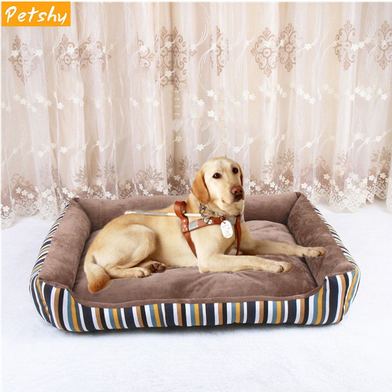 Petshy New Pet Sofa Dog Beds Waterproof Bottom Soft Fleece Winter Warm Cat Bed House Pets Sleeping Mat Cushion For large dogs in Houses Kennels Pens from Home Garden