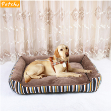Petshy New Pet Sofa Dog Beds Waterproof Bottom Soft Fleece Winter Warm Cat Bed House Pets Sleeping Mat Cushion For large dogs