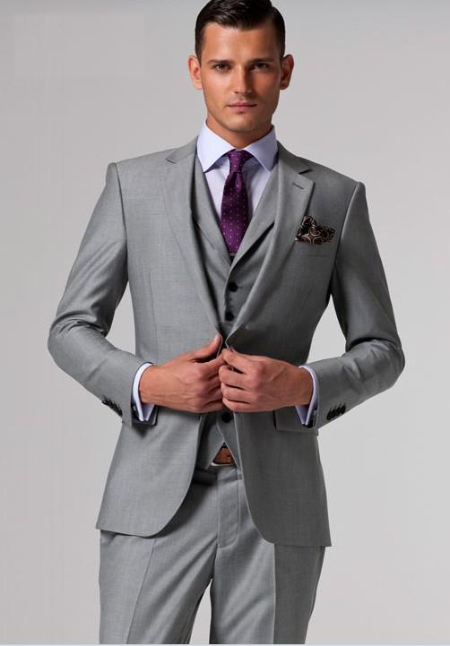 Gray Wedding Coat For Men Custom Made,Tailor Made Grey Groom Suit ...