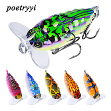 цена POETRYYI 1pc 4cm 4g Crankbait Fishing Lure Artificial Crank Hard Bait Topwater Minnow Fishing Wobblers Japan Fish Lures 30 онлайн в 2017 году