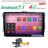 2 Din 9inch 2GRAM Android 7 1 Car Radio GPS Navigation For VW Passat B6 Golf