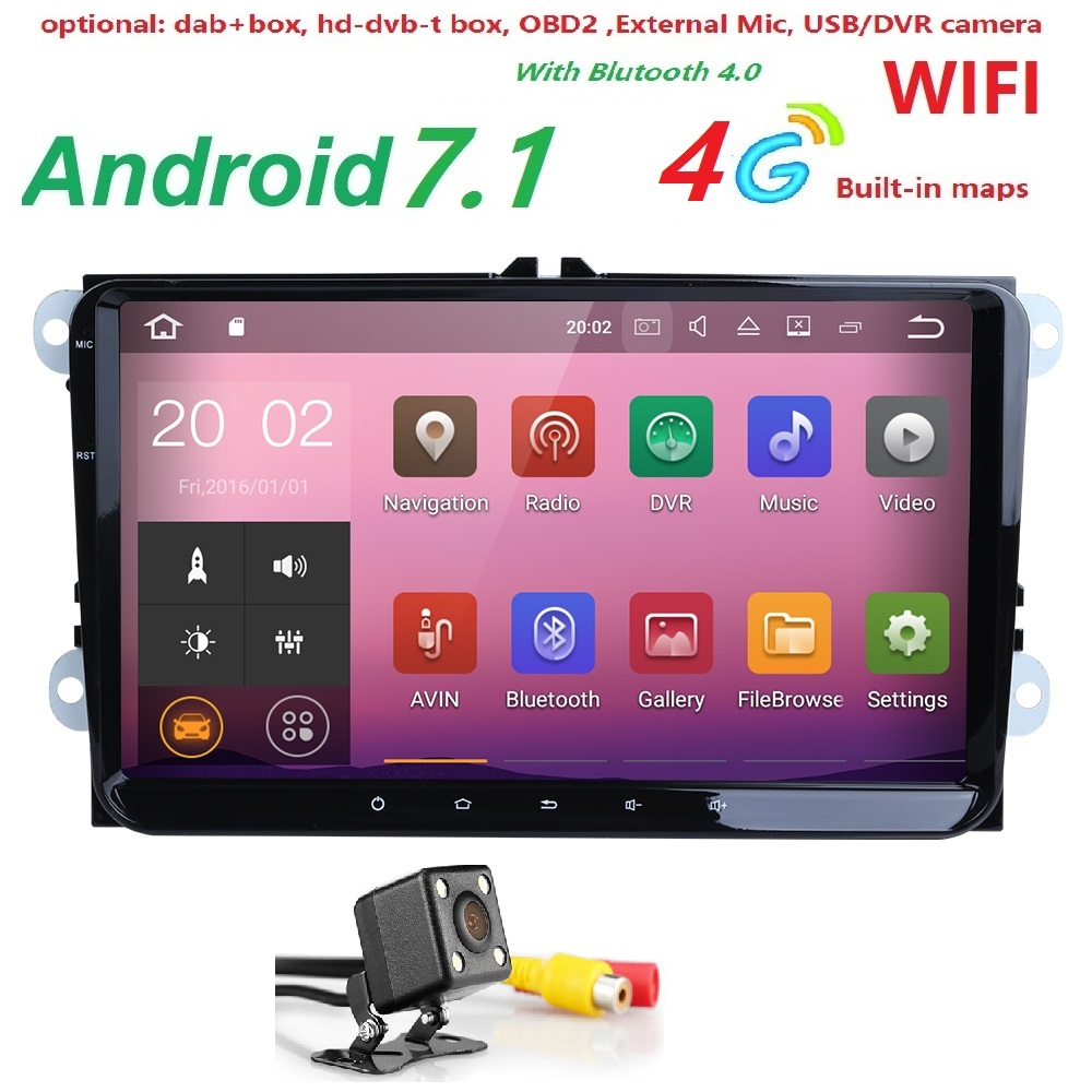 2 din 9inch 2gram android 7 1 car radio gps navigation for. Black Bedroom Furniture Sets. Home Design Ideas