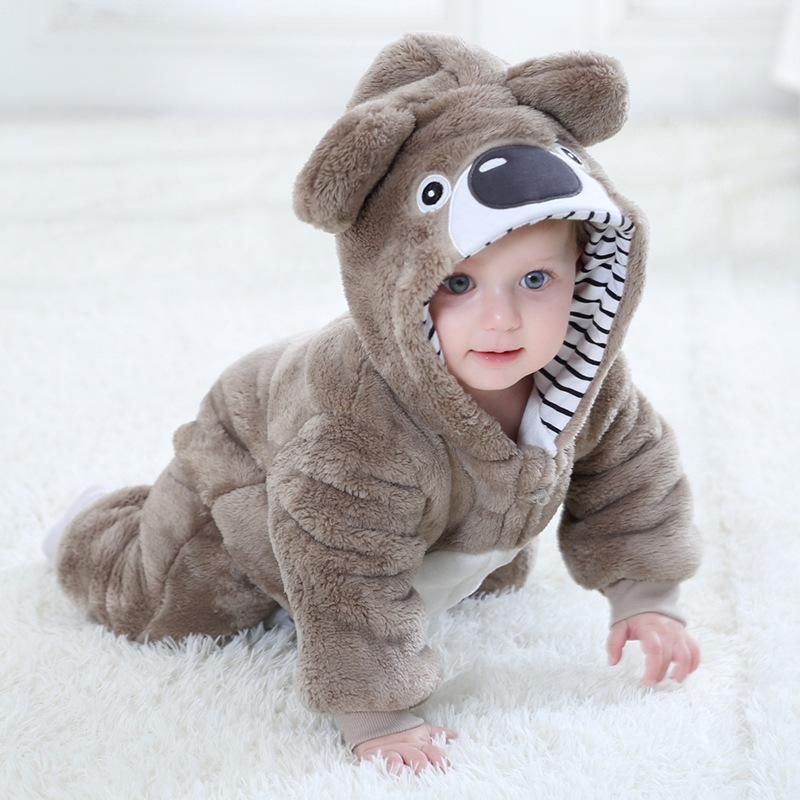 Infant   Rompers   Baby Girl Clothes Kigurumi Pajamas Animal Cartoon Kids Jumpsuit New Born Toddler Baby   Romper   Stitch Panda Winter