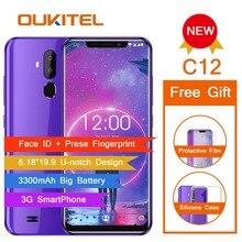 OUKITEL C12 Face ID 6,18 «19:9 смартфон сл сканером отпечатков пальцев Android 8,1 мобильный телефон MT6580 4 ядра 2G Оперативная память 16G Встроенная память 3300 мАч разблокировки