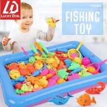 Магнитные рыболовные Игрушки для малышей детская рыболовная