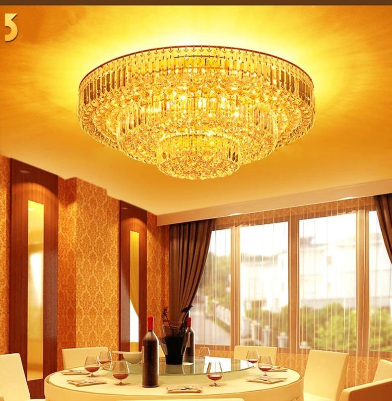 Zlatá chromová křišťálová stropní lampa Hotel Crystal Lamp pro křišťálovou lampu v hale Stair Hallway