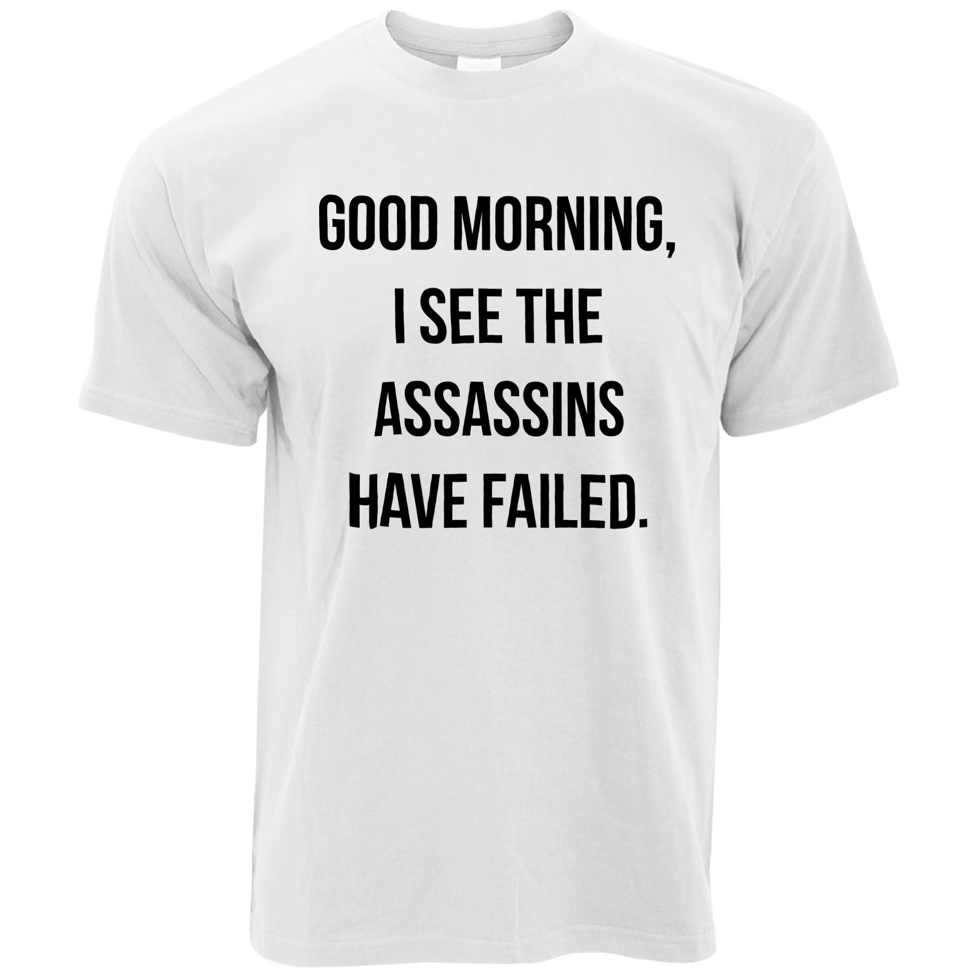 Funny Mens T-Shirt I See The Assassins Have Failed Joke Cool Pun Silly 2018 New Arrival T-Shirt