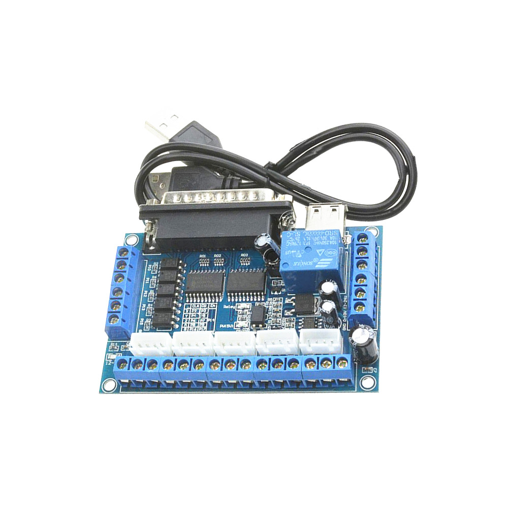 1pc 5 axis CNC Breakout Board with USB Cable for Stepper Motor Driver Controller MACH3 free shipping high quality 4 axis tb6560 cnc stepper motor driver controller board 12 36v 1 5 3a mach3 cnc 12