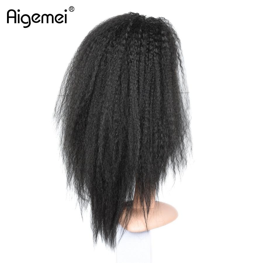 Aigemei жаростойкий кружевной парик 18inch - Синтетические волосы - Фотография 5