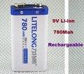 1 Batterie 9 V Li-ion 780 Mah Accu Bateria Accus da Pilha de iões de Lítio Recarregável PP3