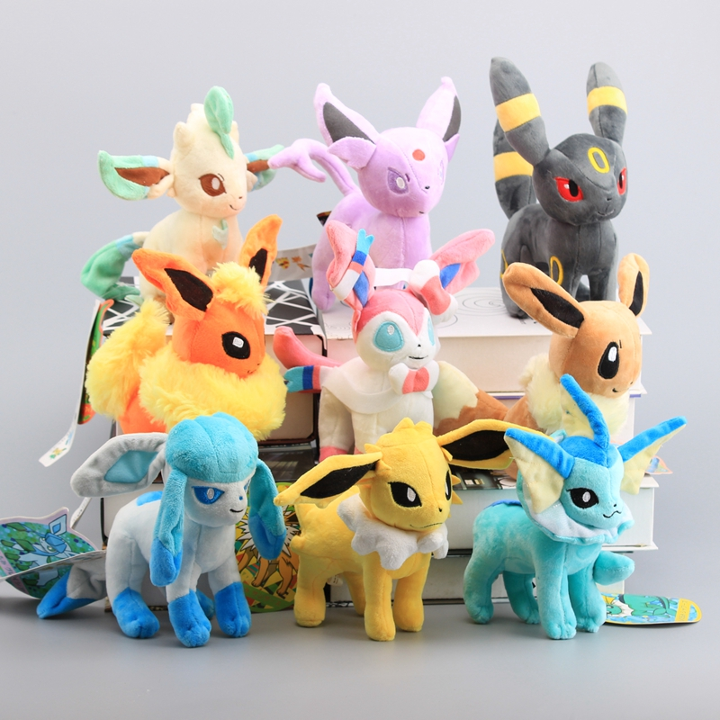 9 Style 8 20 cm Plush Toys Standing Sylveon Umbreon Eevee Espeon Vaporeon Flareon Stuffed Animal Soft Dolls Kids Gift