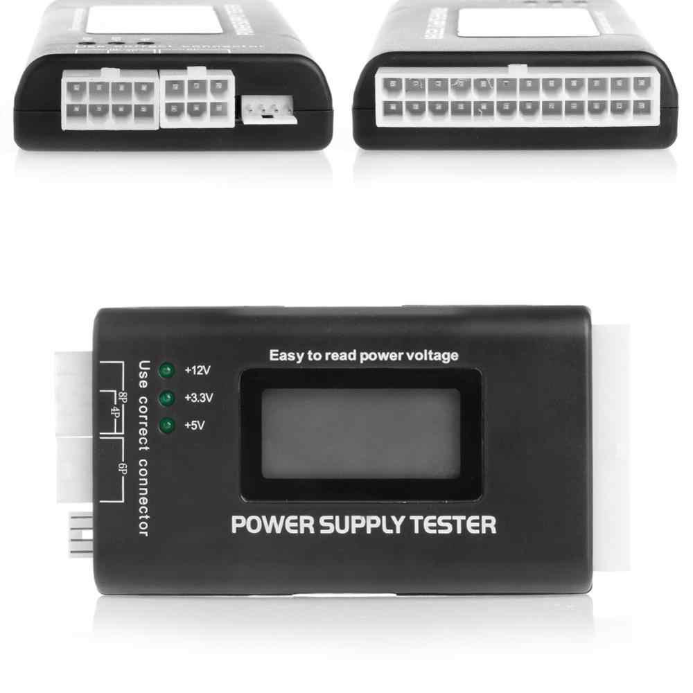 Power LCD Tester di Alimentazione Multifunzione Del Computer 20 24 Pin Sata LCD PSU HD ATX BTX Sorgente di Tensione di Prova di Alta Qualità