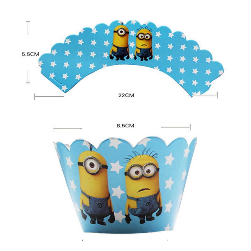 48pc Party Cupcake Cases Flags Decoration Muffin Toppers Celebration Birthday