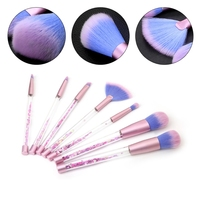 7pcs Set Diamond Crystal Makeup Brush Professional Kit Tool Foundation Color Face Shadow Powder Cosmetics Brush