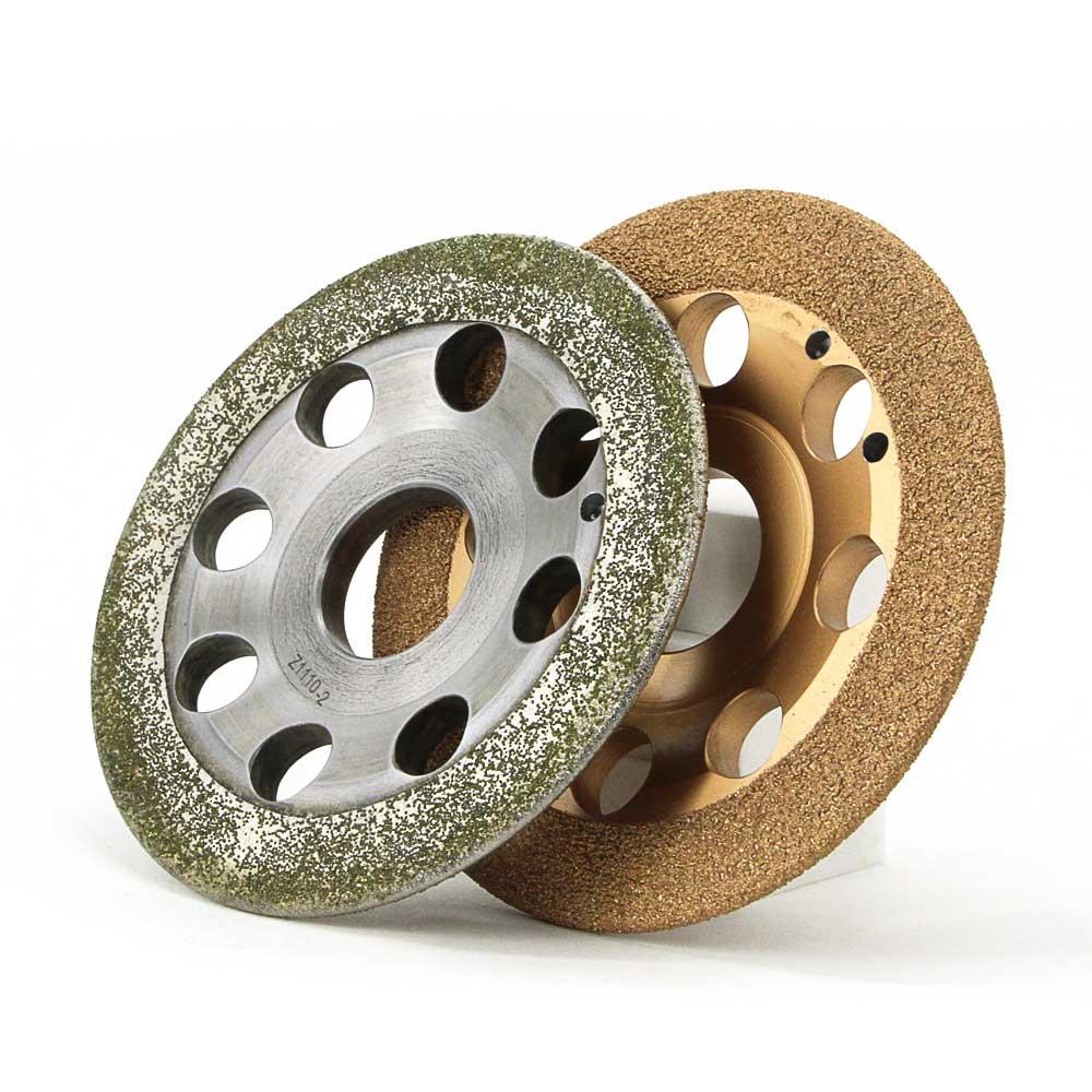 Одна часть гальваническим и паять Бонд diamond зацепления колес для алюминия ржавчины удаления краски грубые абразивные колеса E027