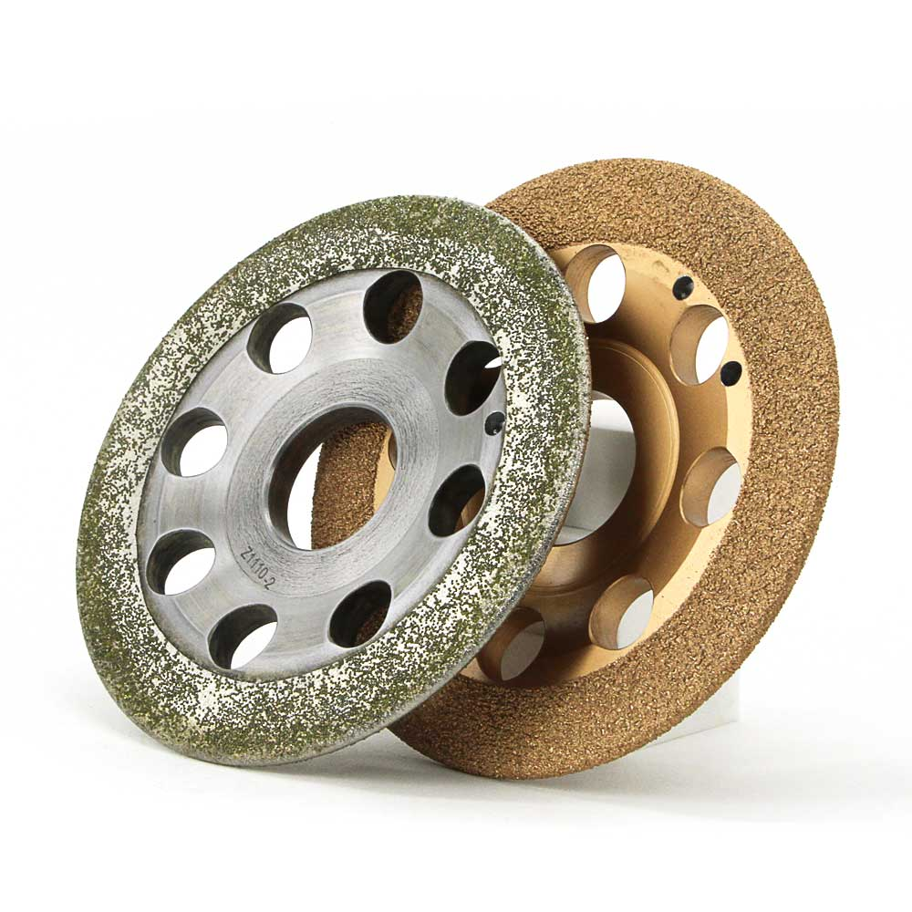 One piece Electroplated and braze bond diamond snagging wheel for aluminum rust paint removal rough abrasive wheel E027