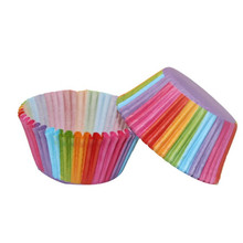 TTLIFE 100 Pcs Rainbow Color Cupcake Liner Paper Baking Cup Muffin Cases Cake Mold Small Cake Box Cup Tray Decorating Tools цена 2017