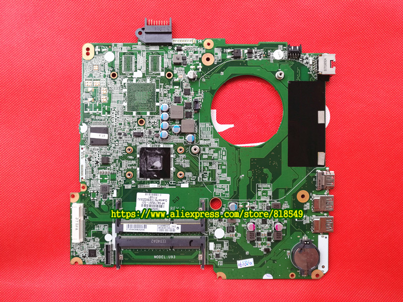 Original Mainboard Fit For HP Pavilion 15 15-N Series 734826-501 A4-5000 CPU Laptop Motherboard  DA0U93MB6D0 laptop notebook motherboard system board 734826 501 734826 001 for hp pavilion touchsmart 15 15 n a4 5000m series 100% tested