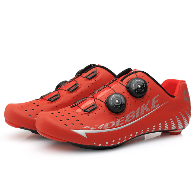 Reflective Ultralight Carbon Men's Cycling Racing Shoes