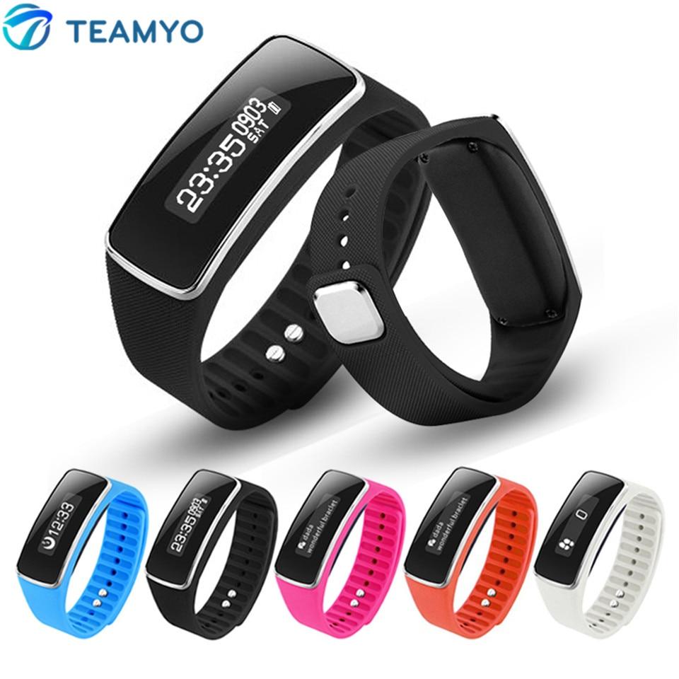 imágenes para Teamyo v5s bluetooth inteligente banda gimnasio rastreador sleep monitor de pulsera inteligente podómetro impermeable recordatorio de llamadas pulsera deporte