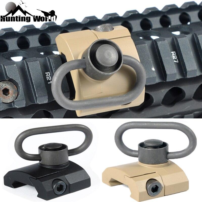 Chasse tactique QD Pivotant Sling Mont Pistolet Mont Sling Point D'attache Support Pour Airsoft Keymod Protège-main Noir/ tan