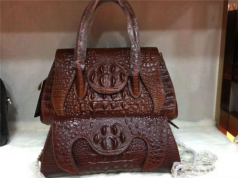все цены на DIOLEVY Brand Women Leather Handbags Crocodile Pattern genuine leather women Bags fashion lady Shoulder Bag онлайн