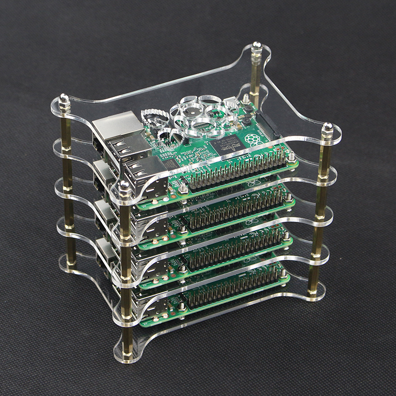 Hot 4-layer Transparent Acrylic Case Clear Raspberry Pi 3 Box Shell with Logo for Raspberry Pi 2 Model B & Raspberry Pi 3B+ Plus унитаз компакт напольный sanita аттика стандарт