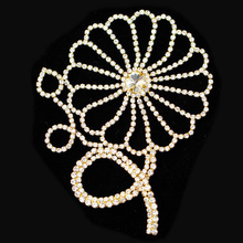 10Pcs Flower Glass Material Strass Crystal Rhinestones Applique Costume Trims For Wedding Decoration High Quality
