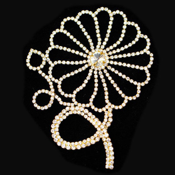 10Pieces Flower Glass Material Strass Crystal Rhinestones Applique Costume Trims For Wedding Decoration High Quality