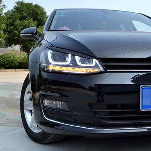 Image 4 - Carmonsons Headlights Eyebrow Eyelids ABS Chrome Trim Cover Sticker for Volkswagen VW Golf 7 MK7 GTI Accessories Car Styling