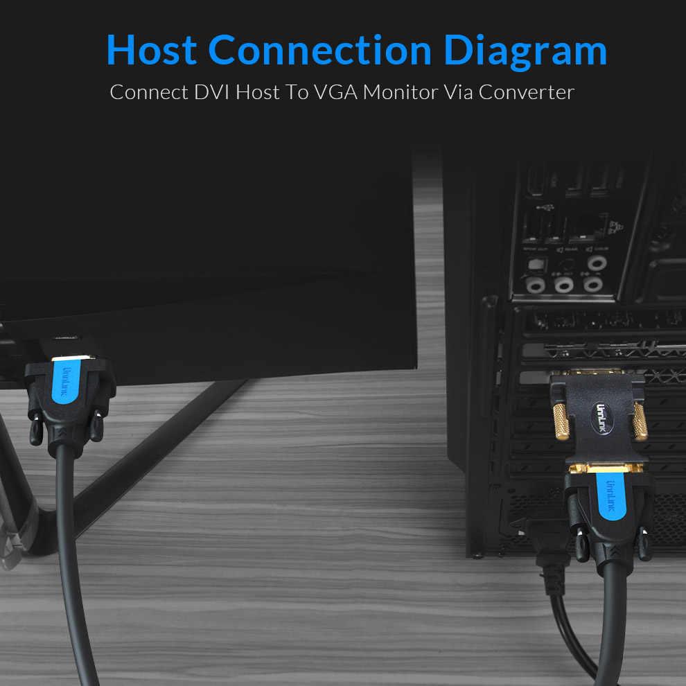 hight resolution of  unnlink active dvi to vga converter digital dvi d 24 1 dvi i