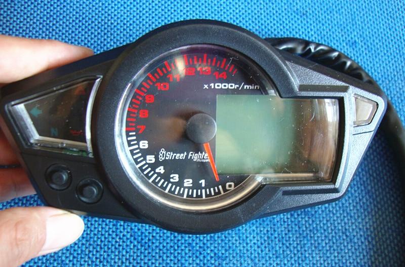 Top Quality Performance KS LCD Universal Digital Odometer Speedometer Tachometer Motorcycle Blue Backlight 14000rpm