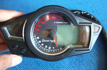 Top Quality Performance  KS LCD Universal Digital Odometer Speedometer Tachometer Motorcycle Blue Backlight 14000rpm