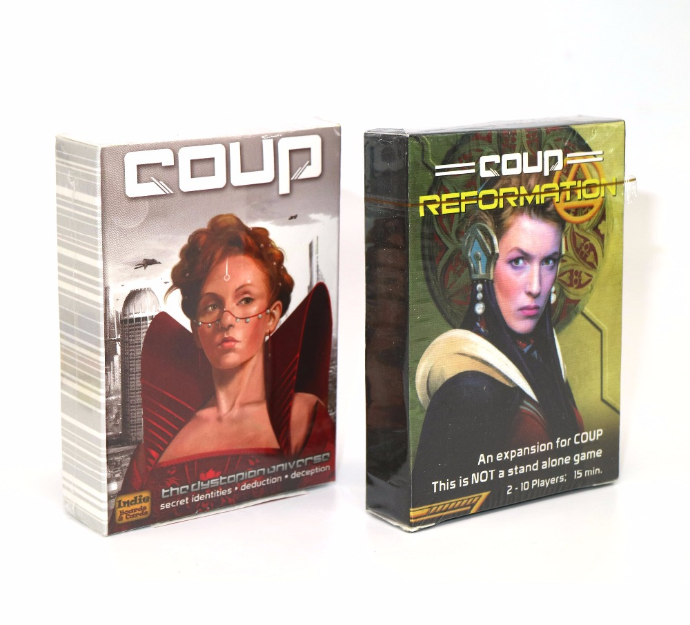 Coup Full English version basic game board game party cards family board game risk 2nd version full english version high quality very suitable for the party and family