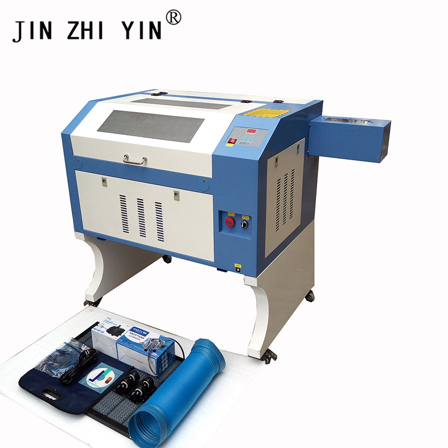 JIN ZHI YIN 4060 50w CO2 Laser Engraver Cutting Machine With M2 Controller Cnc Router Laser Cutter Cutting Plywood Nonmetal