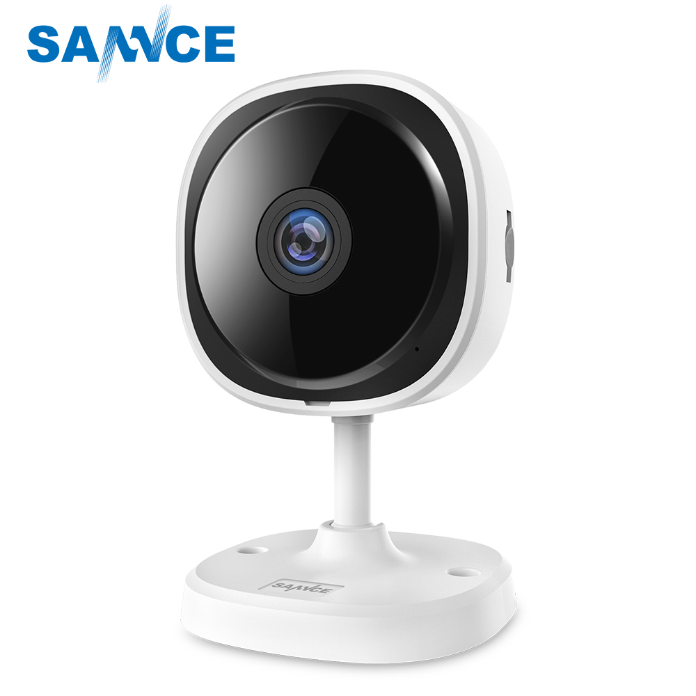 SANNCE HD 1080P Fisheye IP Camera Wireless CCTV Mini Wifi Camara Night Vision IR Cut Home Security Camara Wi-Fi Baby Monitor