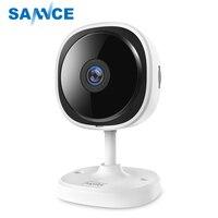 SANNCE HD 1080P Fisheye IP Kamera Wireless CCTV Mini Wifi Camara Nachtsicht IR Cut Home Security Camara Wi Fi baby Monitor-in Überwachungskameras aus Sicherheit und Schutz bei