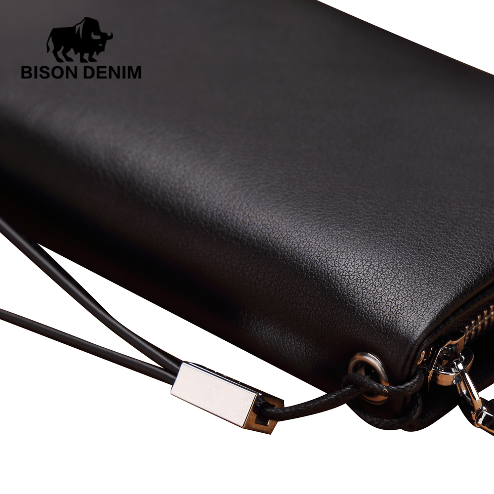 clutch bolsa organizer wallets leather Tipo : Zipper Long Wallet