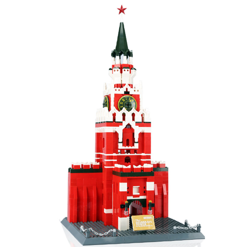 Moscow Building Block Structure Building Blocks educational Toys Wange Building Block Brick Gift 8017
