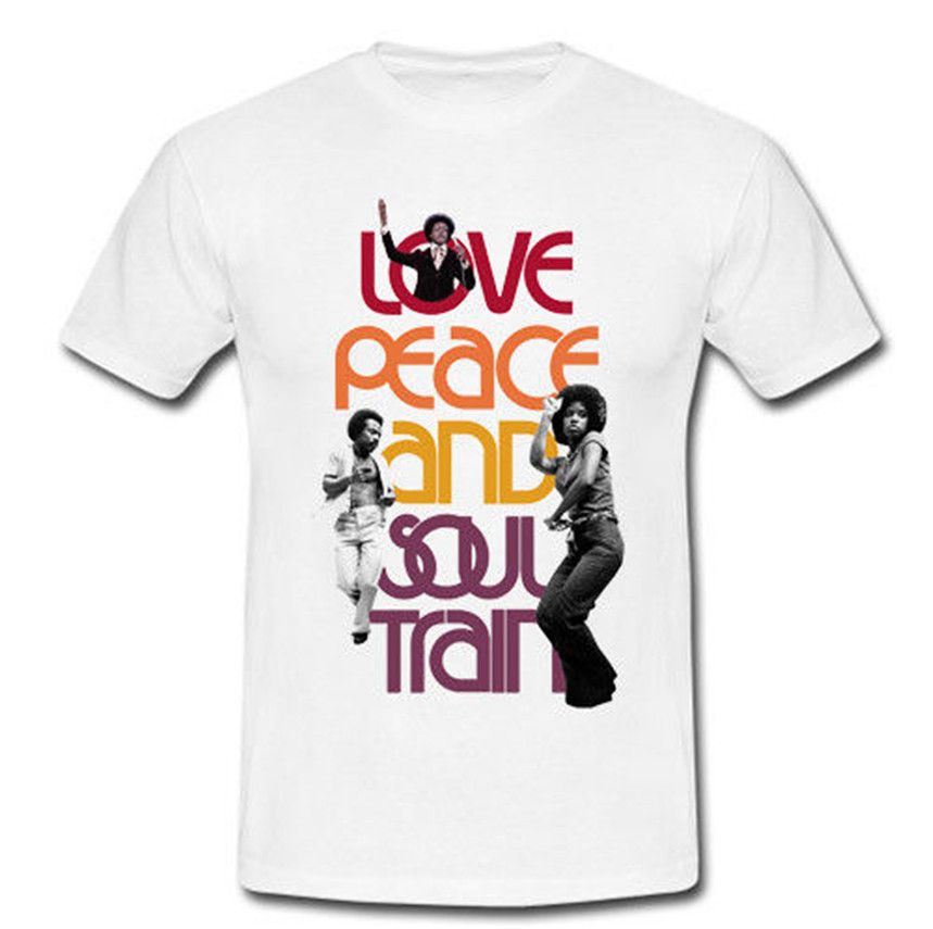 T Shirt Websites Christmas Men O Neck Short Sleeve Love Peach And Soul Train Funny Design T Shirt image