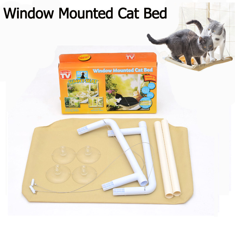 Tremendous Us 24 42 Pet Window Mounted Hammock Cat Bed Washable Pp Oxford Fabric Mat Cat Nest Bed Sunny Seat For Support 35Lbs Pets Cat Window Bed In Cat Beds Andrewgaddart Wooden Chair Designs For Living Room Andrewgaddartcom