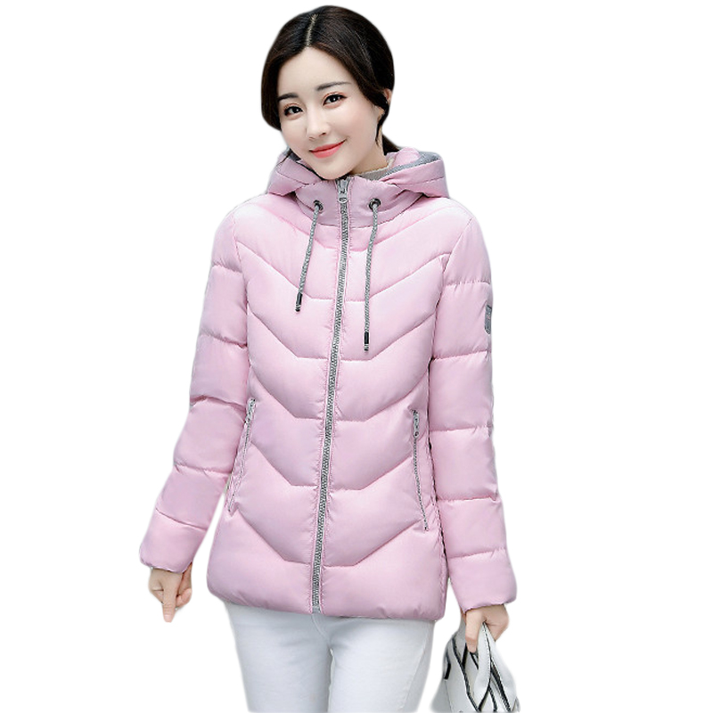 New Wadded Winter Jacket Women Cotton Short Coat Fashion 2017 Girls Padded Slim Plus Size Hooded Parkas Stand Collar Coat CM1604 short cotton parkas 2017 winter jacket women abrigos mujer stand collar outwear wadded padded jacket parkas winter coat c3396