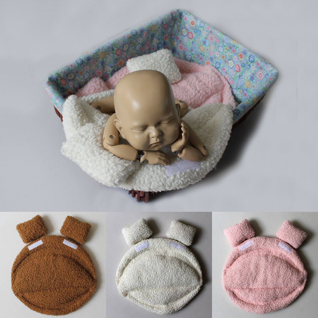 New Prone Posing Pillow Baskets Cushion Newborn Photography Props Flokati Bath Baby Photoshoot Accessories Photo Shoot Backdrop